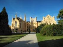 Красивый замок Lednice Стоковые Фото