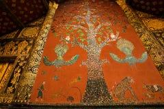 Красивый западный фасад со своим деревом искусства красить-мозаики li Стоковое Изображение RF