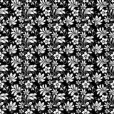 Красивый затейливый ретро безшовный цветочный узор иллюстрация штока