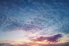 Красивый захода солнца неба Стоковое Фото