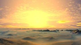 Красивый заход солнца в пустыне сток-видео