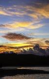 Красивый захода солнца Стоковое Фото