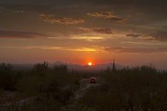 Красивый заход солнца Аризона Стоковая Фотография RF
