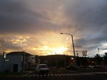 Красивый заход солнца в Гватемале Стоковые Фото