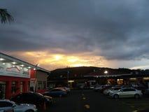 Красивый заход солнца в Гватемале Стоковая Фотография RF