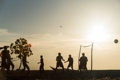 Красивый заход солнца в острове Занзибара стоковые фото