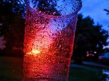 Красивый заход солнца лета через чашку Стоковые Изображения