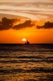 Красивый заход солнца на Boracay, Филиппинах Стоковое Изображение RF