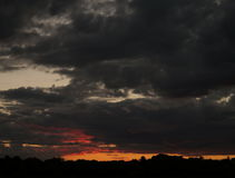 Красивый заход солнца, промежуток времени видеоматериал