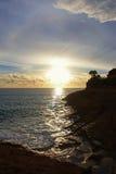 Красивый заход солнца Тенерифе Стоковые Изображения RF