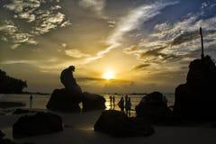 Красивый заход солнца Стоковая Фотография RF