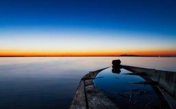 Красивый заход солнца Стоковое фото RF