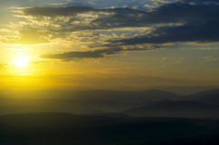 Красивый заход солнца стоковая фотография