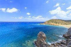 Красивый залив Крита Греция Стоковая Фотография