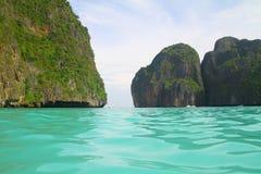 Красивый залив Майя - Phi le Phi Koh - Таиланд Стоковое Изображение