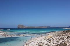 Красивый залив Balos в Крите Стоковая Фотография RF