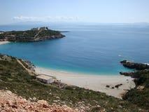 Красивый залив Jali, южная Албания Стоковое Изображение RF