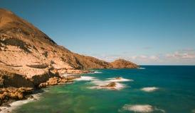 Красивый залив Sandy на Порту Santo Стоковые Изображения RF