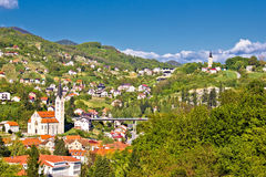 Красивый зеленый ландшафт Krapina стоковые изображения rf
