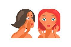 Красивый злословить характеров девушек бесплатная иллюстрация