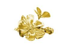 Красивый золотой цветок иллюстрация вектора