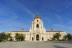 Красивый здание муниципалитет Пасадина, Лос-Анджелес, Калифорния Стоковые Изображения RF