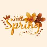 Красивый дизайн весны для одеяния Стоковое Фото