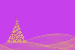 Красивый дизайн рождественской елки снежинки и Стоковая Фотография RF