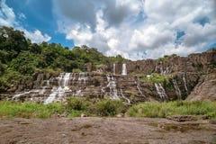 Красивый известный водопад Pongour Стоковое Фото
