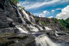 Красивый известный водопад Pongour Стоковая Фотография