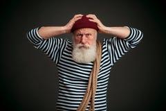 Красивый изолированный матрос моряк Стоковая Фотография