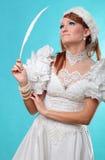 Красивый имбирь в платье ферзя снежка Стоковые Фото