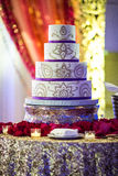 Красивый индийский свадебный пирог стоковое фото