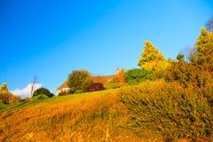 Красивый ирландский осенний пейзаж ландшафта в Co.Cork, Ирландии. Стоковое Изображение