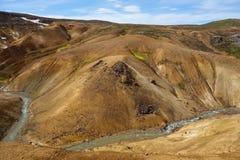 Красивый исландский ландшафт в wizarding горах Kerlingarfjöll, Исландия Стоковые Фото