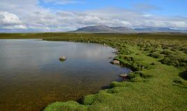 Красивый исландский ландшафт Озеро на полуострове Skagi стоковое изображение rf