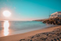 Красивый испанский пляж стоковое изображение rf