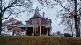 Красивый исторический дом в Atchison Канзасе Стоковые Изображения