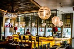 Красивый итальянский интерьер ресторана в Джакарте, Индонезии Стоковые Фото