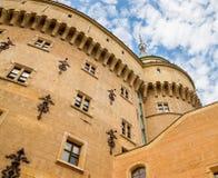 Красивый и известный замок Bojnice в Словакии Стоковые Фотографии RF