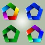 Красивый и современный корпоративный дизайн логотипа Стоковая Фотография