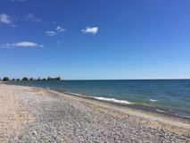 Красивый и солнечный день на пляже Стоковое Изображение RF