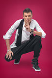 Красивый и стильный человек стоковое фото rf