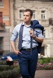 Красивый идти бизнесмена Стоковые Фото