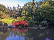 Красивый и уютный японский сад во Франции стоковое фото rf