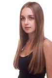 Красивый кавказский усмехаться девушки Стоковое Изображение