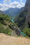 Красивый каньон в Франции Стоковая Фотография