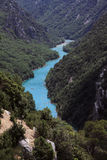 Красивый каньон в Франции Стоковые Изображения