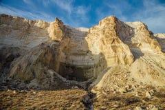Красивый каньон горы в пустыне Boszhira в плато Устюрта, Казахстане стоковое изображение rf
