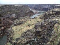 Красивый каньон Twin Falls Айдахо Рекы Снейк Стоковые Изображения